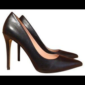 Enzo Angiolini Black Leather Frolic Pumps